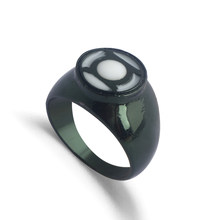 Movie DC Comics Green Lantern Ring Superhero Green Enamel Crystal Hal Jordan Finger Rings for Women and Men Party Jewelry(China)