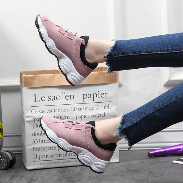 2019 Spring New Sports Shoes Female Flat Bottom Wild Board Shoes Female students Casual Fashion Women's Shoes Scarpe Donna 5