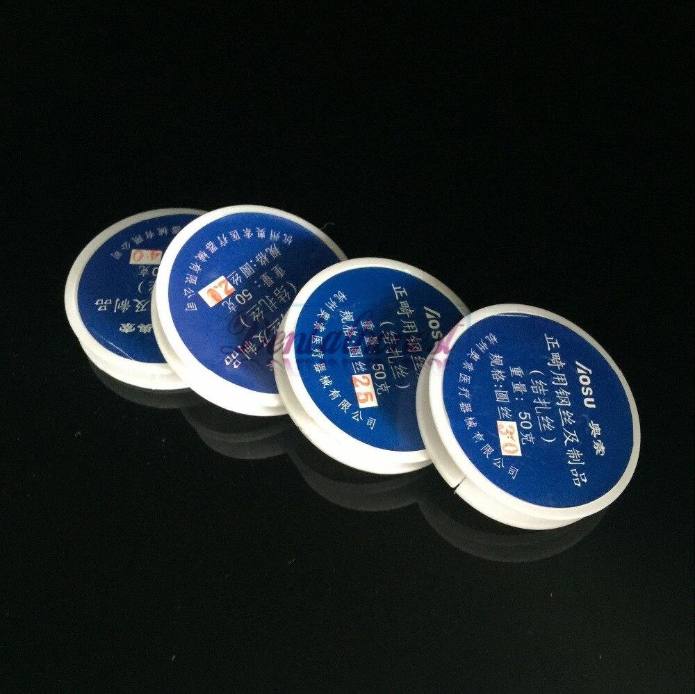 4 PCS Dental Ligature Wires ( 0.2mm+0.25mm+0.3mm+0.4mm)   Dental orthodontic Line