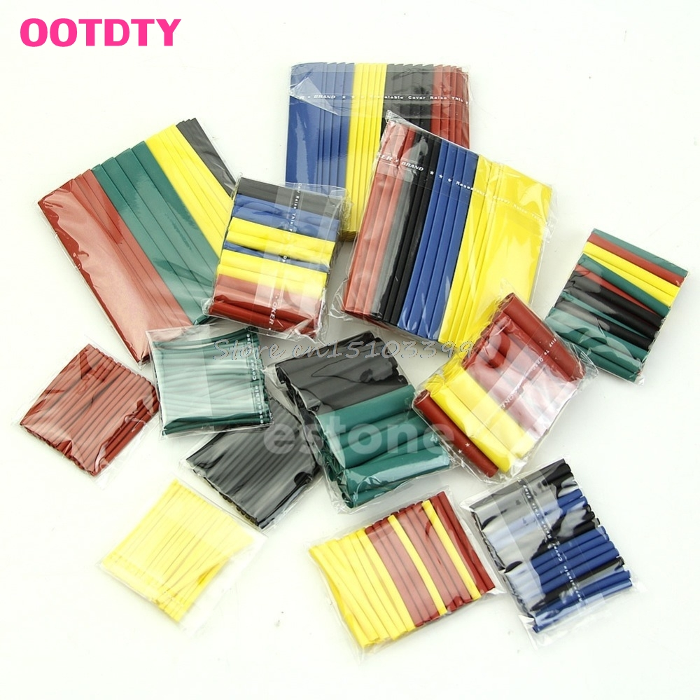 328Pcs Assorted Heat Shrink Tube 5 Colors 8 Sizes Tubing Wrap Sleeve G08 Drop ship
