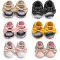 Latest Rivet Tassel Baby Moccasins Slippers Stud Shoes Butterfly Knot Baby Princess Shoes Soft Bottom Indoor Baby Boots