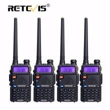 4pcs Portable Radio font b Walkie b font font b Talkie b font Retevis 5W RT5R