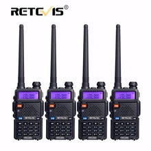 4pcs Portable Radio Walkie Talkie Retevis 5W RT5R 128CH VHF UHF Dual Band Amateur Radio Hf Transceiver 2 Way Radio Station RT-5R