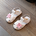 Buy sandals for girls 2017 summer new baby sandals fashion flowers cowhide girl sandals casual Baotou children shoes
