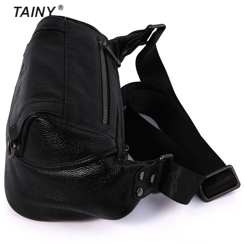 Tainy 2017 New Genuine Leather Cow Leather Versatile Casual Men Zipper Hasp Soft Messenger Bags & Shoulder цены