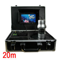 1/3 SONY CCD 700TVL CCTV Underwater Fishing Camera Fish Finder 7 TFT LCD Monitor 20M Cable Rotate 360 Degree Remote Control