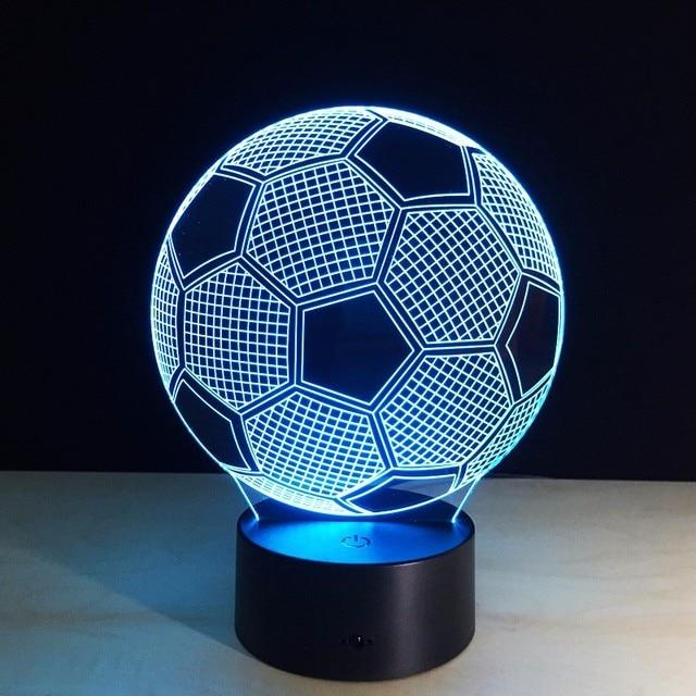 Populair Promotie LED Kleur Veranderende Nachtlampje Voetbal Lamp Mood SZ85