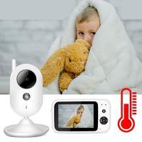 Видео няня детский монитор с камерой 3,5 дюймов TFT lcd IR переговорное устройство с режимом ночной съемки устройство контроля температуры малыш