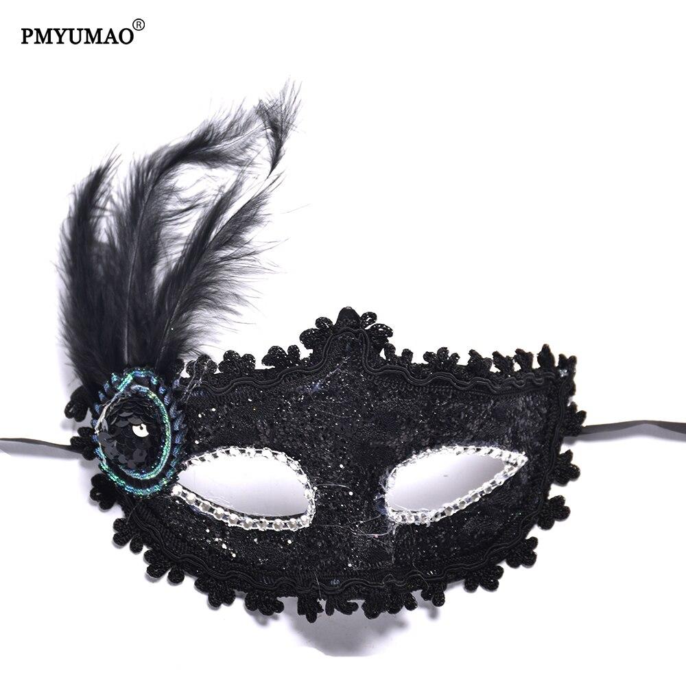 Aliexpress.com : Buy PMYUMAO Party Mask Masquerade feathers ...
