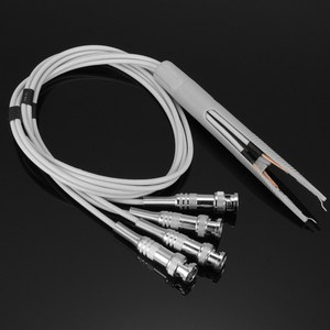 Image 2 - 1PC MD Test Tweezer Clip 4 BNC Test Probe Leads for LCR Meter Terminal Electronics Stocks