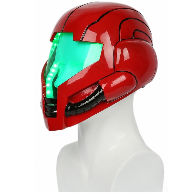 Coslive Metroid Samus Aran Cosplay Helmet Costume Mask with LED Light for Halloween Carnival Cos Show 1