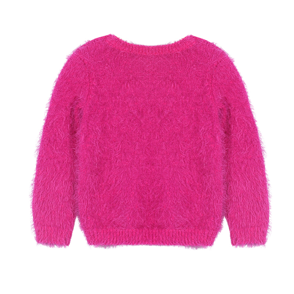 sito affidabile 92e15 357cc US $15.99 |YKYY YAKUYIYI Rose Pink Girls Sweater Long Sleeve Baby Girls  Pullover Tops Soft Hairy O neck Children Sweater Girls Clothing-in Sweaters  ...