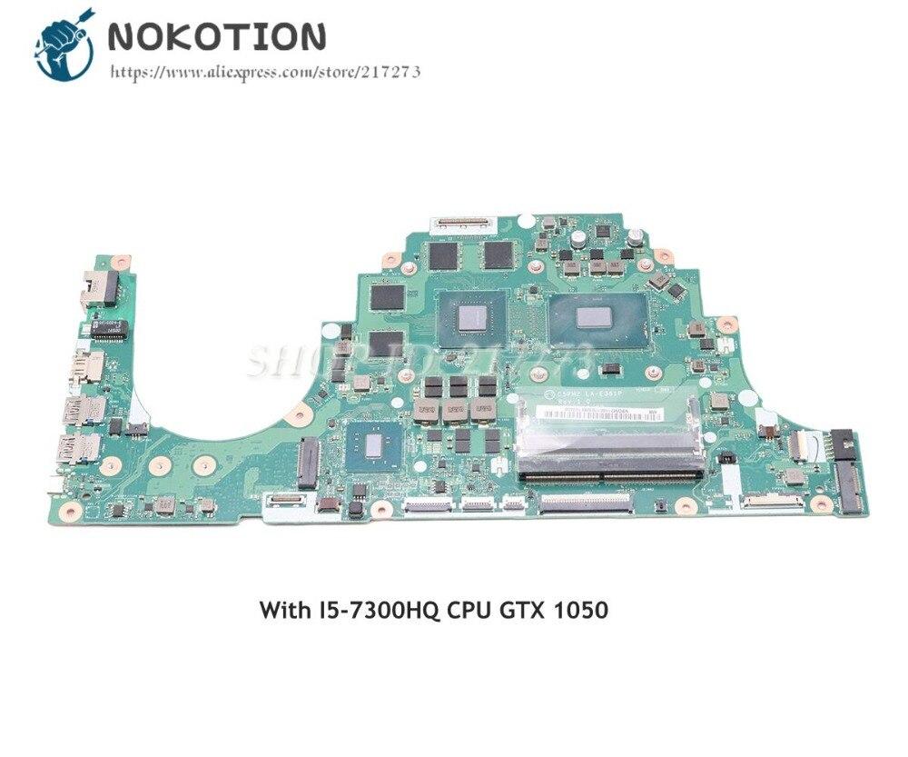 NOKOTION Per Acer aspire VX5-591 VX5-591G Scheda Madre Del Computer Portatile DDR4 I5-7300HQ CPU GTX 1050 C5PM2 LA-E361P NBGM211001NOKOTION Per Acer aspire VX5-591 VX5-591G Scheda Madre Del Computer Portatile DDR4 I5-7300HQ CPU GTX 1050 C5PM2 LA-E361P NBGM211001