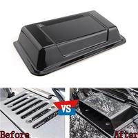 Car Styling Black Cowl Hood Vent Scoop Air Flow Intake Turbo Bonnet Vent Cover Decoration For