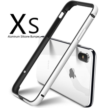 Luxury Aluminum Metal Silicone Bumper Phone Case For iPhone XS XR XS MAX Soft TPU Frame For iPhone 7 8 Plus 6 6S Shockproof Case baseus frapiph6 rt0g aviation aluminum protective bumper frame case for 4 7 iphone 6 grey