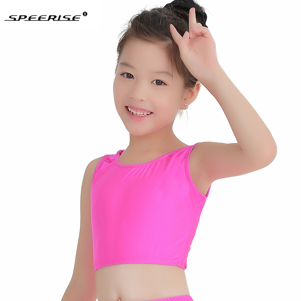 d63fd2db6a95 SPEERISE Toddler Ballet Top Gymnastics StretchTops for Girls Lycra ...