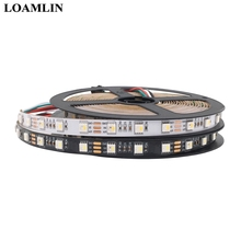 SK6812 5050SMD RGBW (Similair WS2812b) 4 in 1  DC12V  Individuel Adressable Bande Led  IP30/IP65/IP67  60 Leds/Pisxels/m