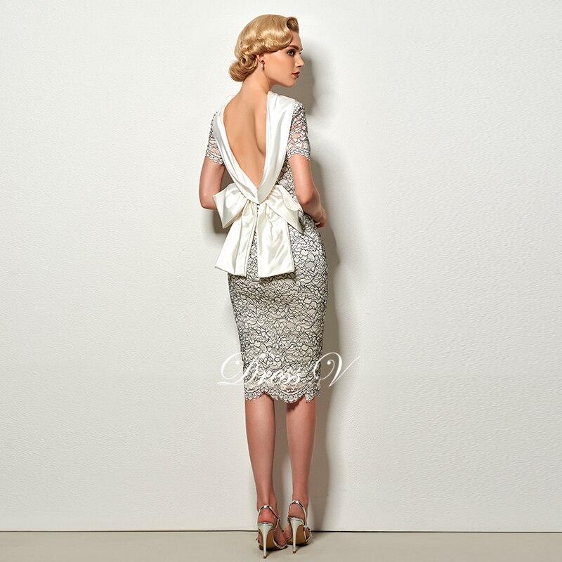 Dressv sexy ryggfri kappe kort cocktail kjole vintage høy nakke - Spesielle anledninger kjoler - Bilde 2