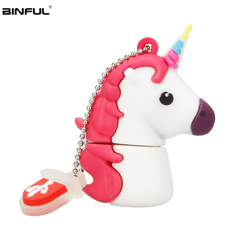 Classic Unicorn Usb Stick 32GB Cute Cartoon Usb Flash Drive 128GB 64GB 16GB 8GB 4GB Pen Drive Usb 2.0 Lovely Gift Memory Stick