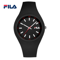 Fila Fashion And Casual Silicone Strap Quartz Watch For Men And Women Watches For Lovers 38