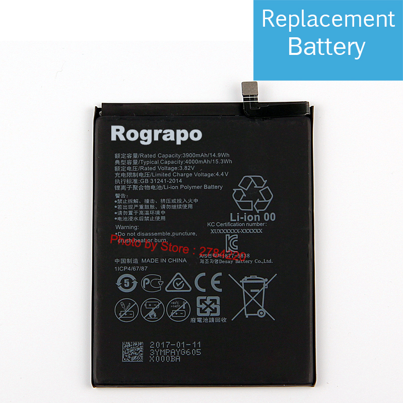 4000mah Hb406689ecw Replacement Battery For Huawei Honor Holly 4 4
