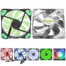 15 LED 12V/5V Light Neon Quite Computer Case Mod Cooling Fan 120*120*25mm 3/4 Pin Cooling Fan PC Cooler Radiator Ventilador
