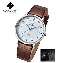 WWOOR Quartz Watches Men Luxury Leather Man Watch Ultra-Thin Men's Waterproof Casual Sport Water Resistant Wristwatch Male Clock стоимость