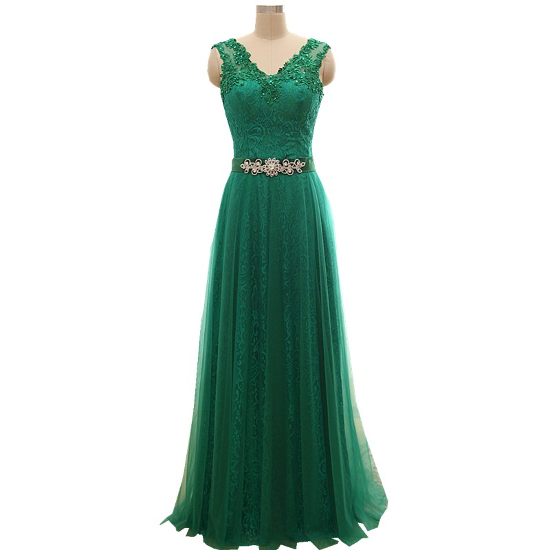 Long Turqoise Emerald Green A line Crystal Formal Elegant Evening Dresses  2017 On Sale Robe de Soiree Party Vestido de Festa A30-in Evening Dresses  from ... 9628523fdbb2