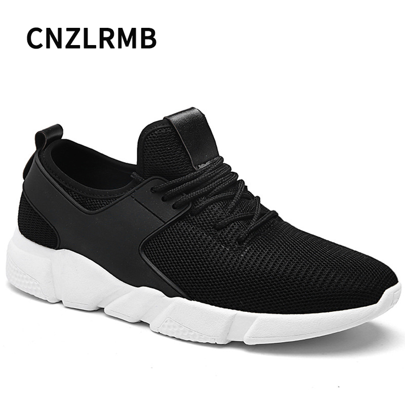 CNZLRMB Breathable Shoes Sport Men Spring Mesh Massage Running Men Shoes Black Outdoor Male ...