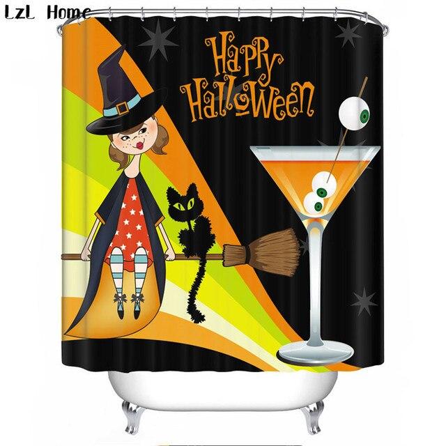 halloween shower curtain 3d waterproof skull bath curtain fabric bathroom curtain bath curtains hooks christmas decorations