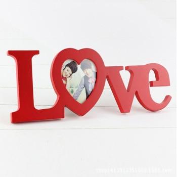 Creative portfolio Happy LOVE picture frameBirthday to marry Christmas gift porta retrato photo frame quadro free shipping