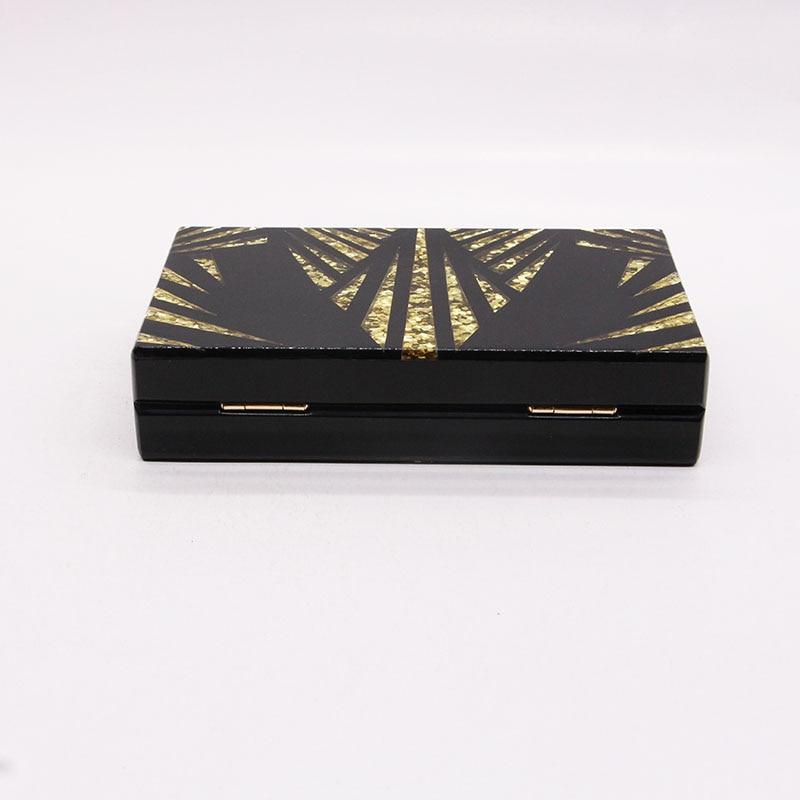 Black gold glitter Women Clutch 5