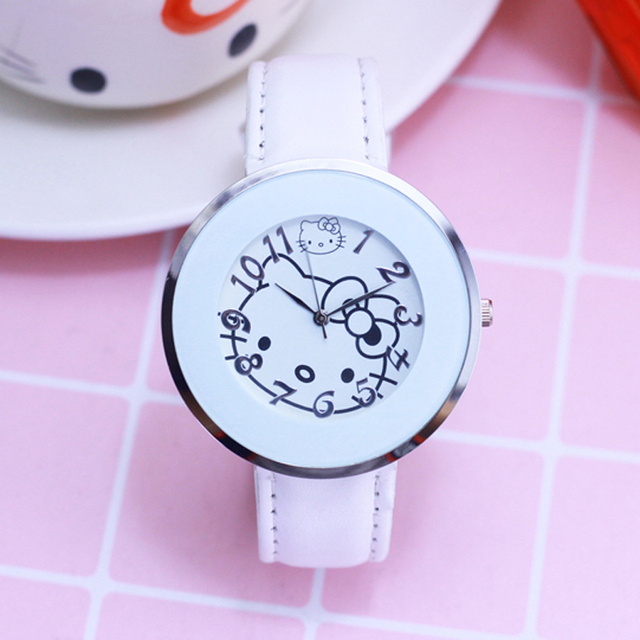 2018 Hot Sales Popular Kids Watches Lovely Hello Kitty Dial Wristwatches Fashion