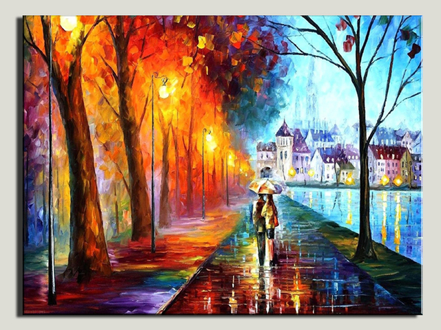 Hot Sell Romantic Couple Walking In The Rain Hd Picture