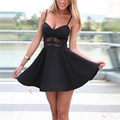 New Arrival 2017 Women Summer Dress Fashion Straps Sleeveless Backless Hollow Out Sexy Mini Party Dresses Plus Size Vestidos