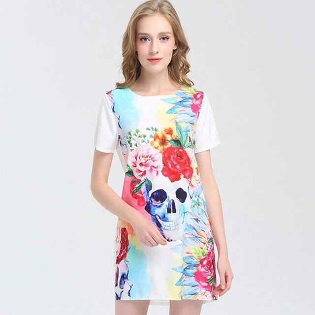 Новый 2017 летний стиль с коротким рукавом цветочные бабочка печати dress женщины повседневная о-образным вырезом плюс размер старинные карандаш dress red