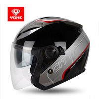 2017 Summer New Knight Protection YOHE Opens Face Motorcycle Helmets ABS 3 4 Motorbike Helmets Have