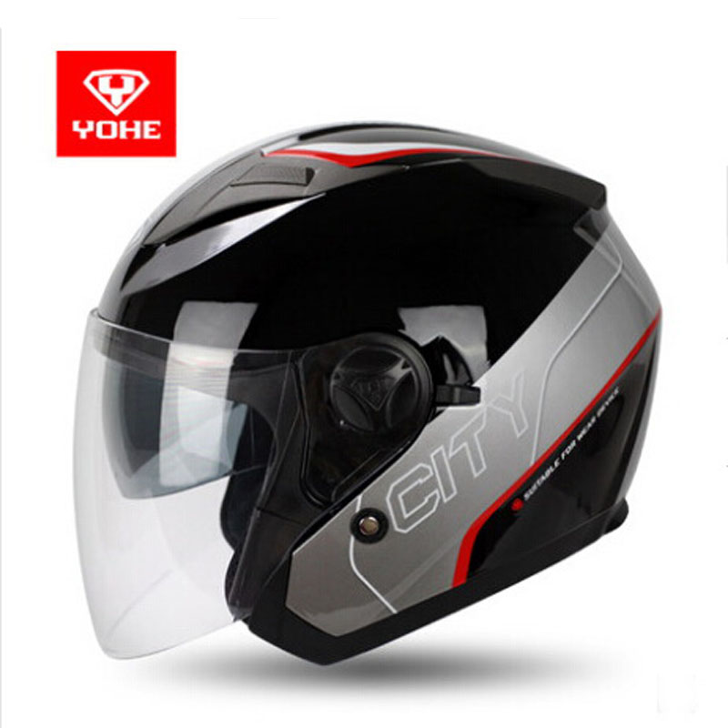 2017 summer New Knight protection YOHE opens face motorcycle helmets ABS 3/4 Motorbike helmets have 10 colors size M L XL XXL 2017 new knight protection gxt flip up motorcycle helmet g902 undrape face motorbike helmets made of abs and anti fogging lens