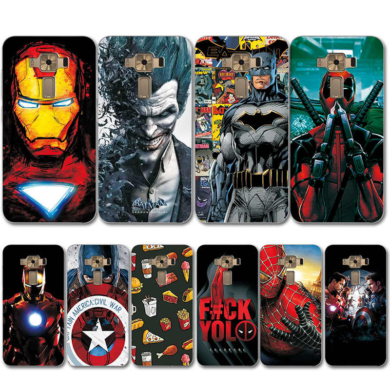 Captain America Cover For ASUS Zenfone 3 ZE520KL Novelty TPU Painted Phone Case Coque Zenfone 3 ZE520KL on Case Zenfone 3 5.2""