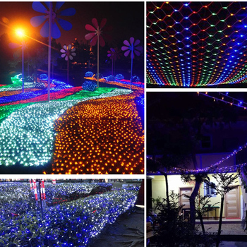 JUNJUE Led Net Lights 220V Wedding Decoration Christmas Fairy String Light Outdoor Holiday Festival Multi Outdoor Garden Lamp 5