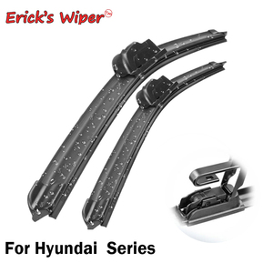 Erick's Wiper LHD Front Wiper Blades For Hyundai Solaris Tucson Accent i10 i30 i40 i35 Windshield Windscreen Front Window