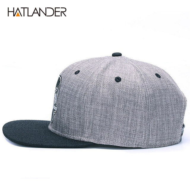 HATLANDER gorra de béisbol Original para hombre gorra de béisbol con calavera de bordado de marca gorra de hip hop de 6 paneles 3
