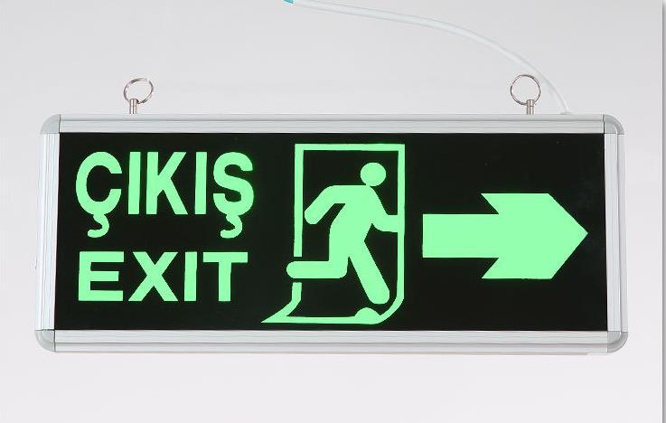 Customized Security Exit Evacuation Indicator Light Traffic Safety Warning Sign LED Luminous Guidepost ...