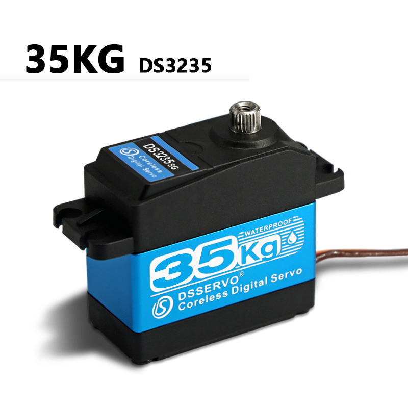 Image 2 - 1X35kg high torque Coreless motor servo DS3135 Metal gear and DS3235 StainlessSG waterproof digital servo for Robotic DIY,RC car-in Parts & Accessories from Toys & Hobbies