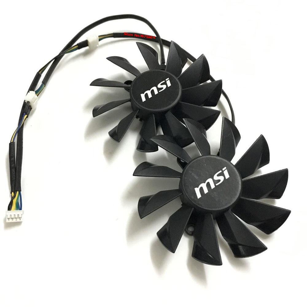 2 Pcs/Lot PLD10015S12H DC 12V 0.55A Video Card Fan For MSI N680GTX GTX680 graphics card cooling disney by rfs d5003me