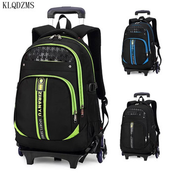 KLQDZMS Travel Bag Student Rolling Luggage Backpack Business Trolley Cabin Suitcases Wheel