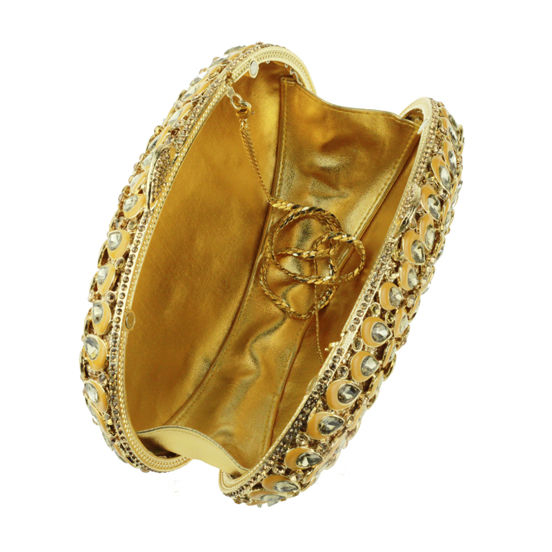 oval-shaped gold clutch bag6