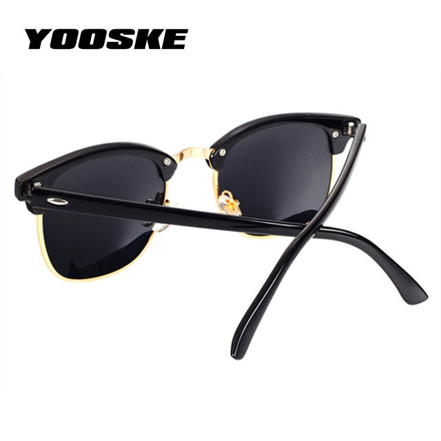 YOOSKE Clássico Polarizada Óculos De Sol Dos Homens Retro Mulheres Designer  de Marca de Alta Qualidade Óculos de Sol Espelho Moda Óculos De Sol  Femininos ... 934ac0afca