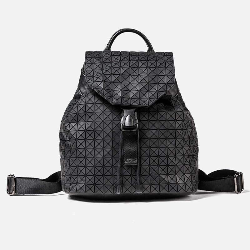 ФОТО Aolen Women Backpack Feminine Geometric Patchwork Sequin Plaid Female Backpacks for Teenage Girls Bagpack Drawstring Bag Mochila
