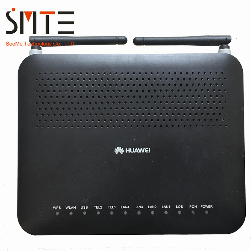 4GE and 2 voice port,WIFI,English Second hand  Huawei HG8245 Gpon ONT ONU